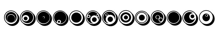 Circles Regular Font LOWERCASE