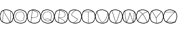 Circulum Font UPPERCASE