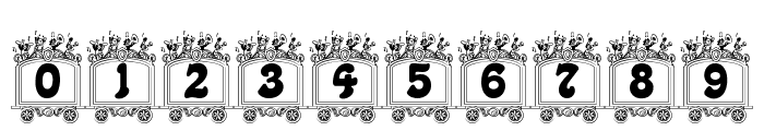Circus train Font OTHER CHARS