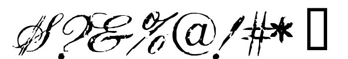 Civilian Font OTHER CHARS