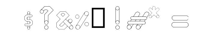 circuitos redondos Font OTHER CHARS