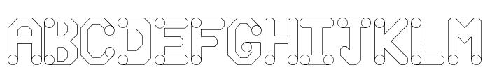 circuitos redondos Font UPPERCASE