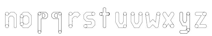 circuitos redondos Font LOWERCASE
