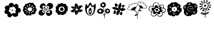 Ciao Bella Flowers Font UPPERCASE