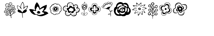 Ciao Bella Flowers Font LOWERCASE