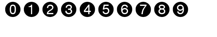 Circle Frame Negative Font OTHER CHARS
