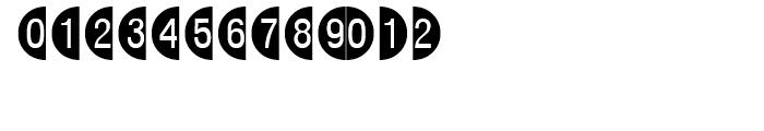 Circle Frame Negative Font LOWERCASE