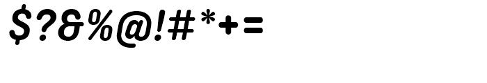 Ciutadella Rounded Semi Bold Italic Font OTHER CHARS