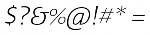 Cielo Light Italic Font OTHER CHARS