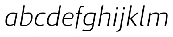 Cielo Light Italic Font LOWERCASE