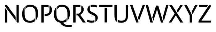 Cielo Stencil Font UPPERCASE