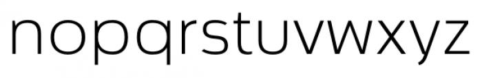 Cillian Semi-expanded Light Font LOWERCASE