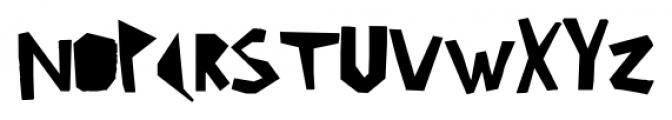 Ciseaux Matisse Cut-Out-Linear Font UPPERCASE