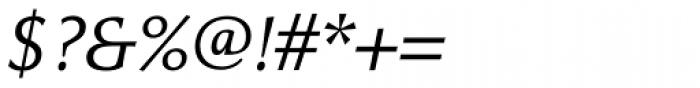 Cicero Light Italic Font OTHER CHARS