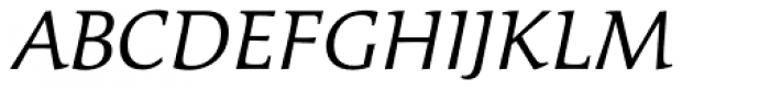 Cicero Light Italic Font UPPERCASE