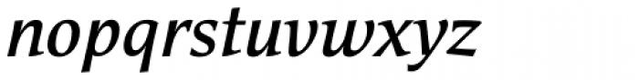 Cicero Medium Italic Font LOWERCASE