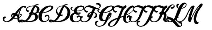 Cider Script Font UPPERCASE