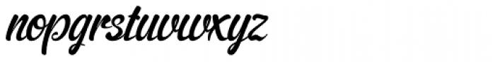 Cider Script Font LOWERCASE
