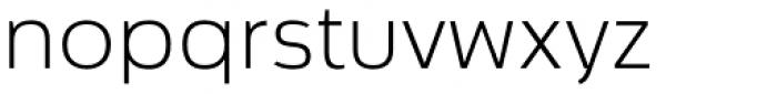 Cillian Semi Expanded Light Font LOWERCASE