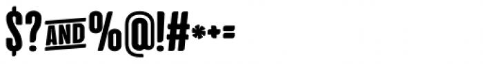 Cinematografica ExtraBold Font OTHER CHARS