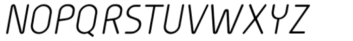 Cineplex Italic Font UPPERCASE