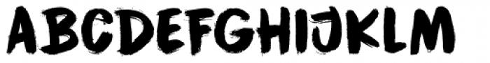 Cinnabar Brush Font UPPERCASE