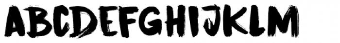 Cinnabar Brush Font LOWERCASE