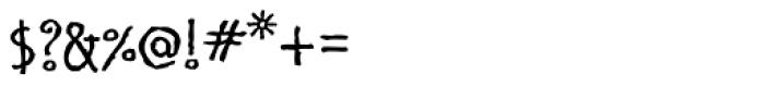 Cinnamon Regular Font OTHER CHARS