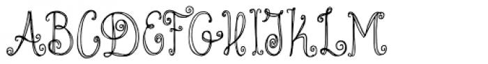 Cinnamon Swirl Font UPPERCASE