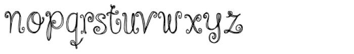 Cinnamon Swirl Font LOWERCASE