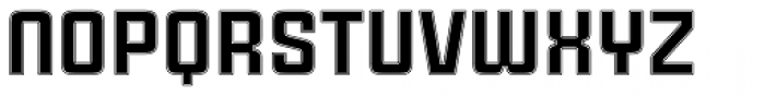 Cintra Inline Font LOWERCASE