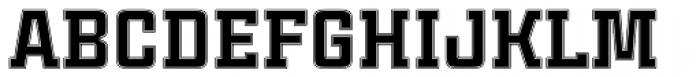 Cintra Slab Inline Unicase Font UPPERCASE