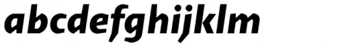 Cira Sans Extra Bold Italic Font LOWERCASE