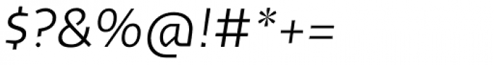 Cira Sans Light Italic Font OTHER CHARS