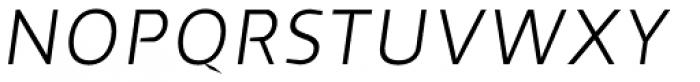 Cira Sans Light Italic Font UPPERCASE