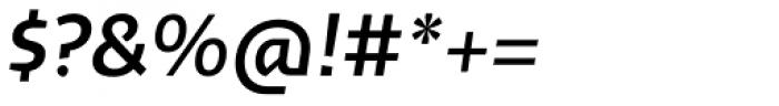 Cira Sans Semi Bold Italic Font OTHER CHARS