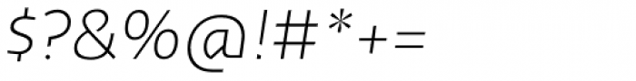Cira Sans Ultra Light Italic Font OTHER CHARS