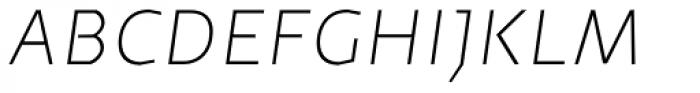 Cira Sans Ultra Light Italic Font UPPERCASE