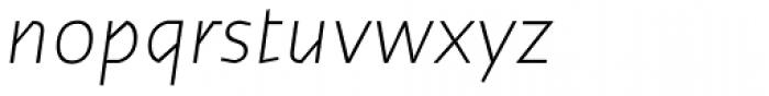 Cira Sans Ultra Light Italic Font LOWERCASE