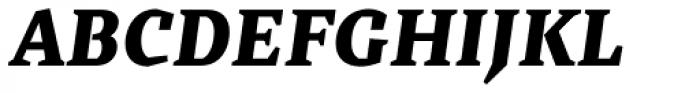 Cira Serif Black Italic Font UPPERCASE