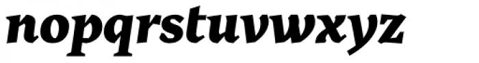Cira Serif Black Italic Font LOWERCASE