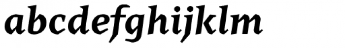 Cira Serif Bold Italic Font LOWERCASE