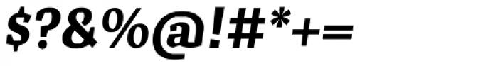 Cira Serif Extra Bold Italic Font OTHER CHARS