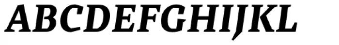 Cira Serif Extra Bold Italic Font UPPERCASE