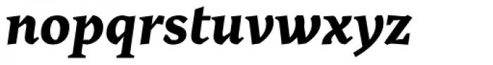 Cira Serif Extra Bold Italic Font LOWERCASE
