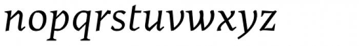 Cira Serif Italic Font LOWERCASE
