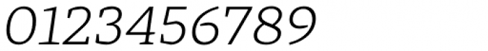 Cira Serif Light Italic Font OTHER CHARS