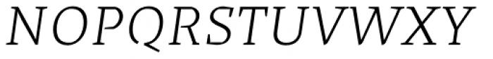 Cira Serif Light Italic Font UPPERCASE