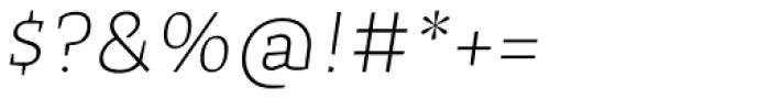 Cira Serif Ultra Light Italic Font OTHER CHARS