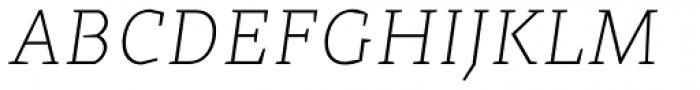 Cira Serif Ultra Light Italic Font UPPERCASE
